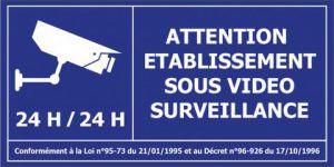 établissement sous videosurveillance sécurité
